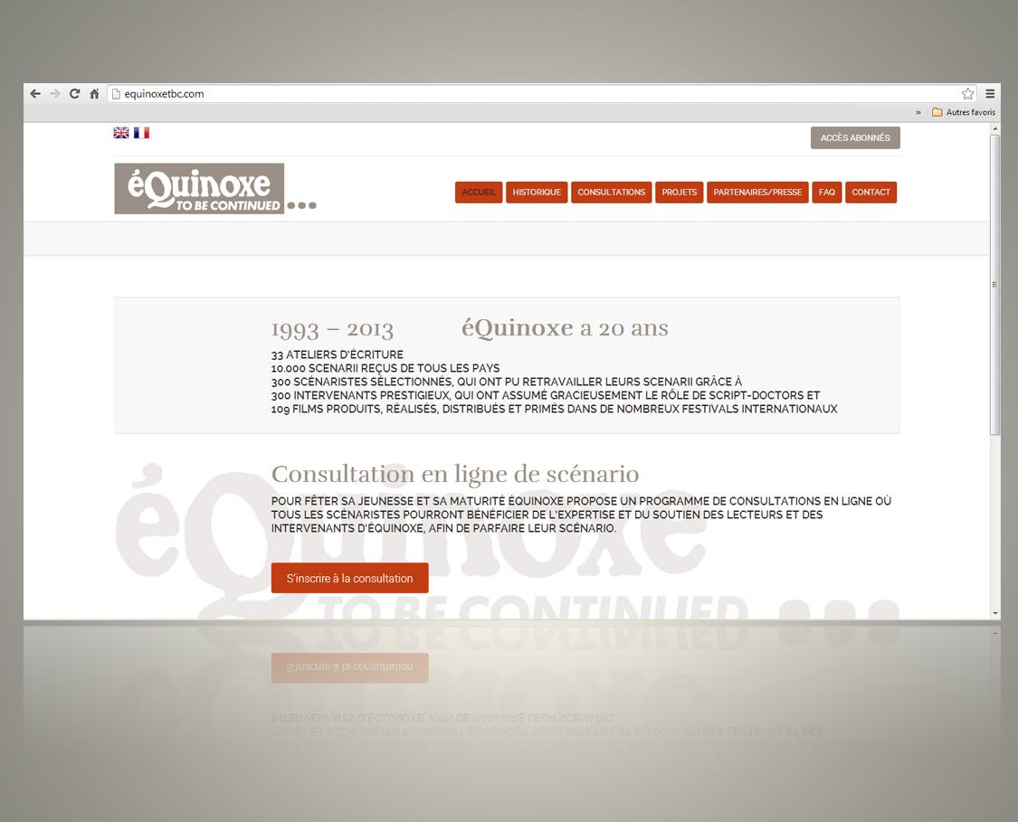 Conception du Site web Equinoxetbc.com