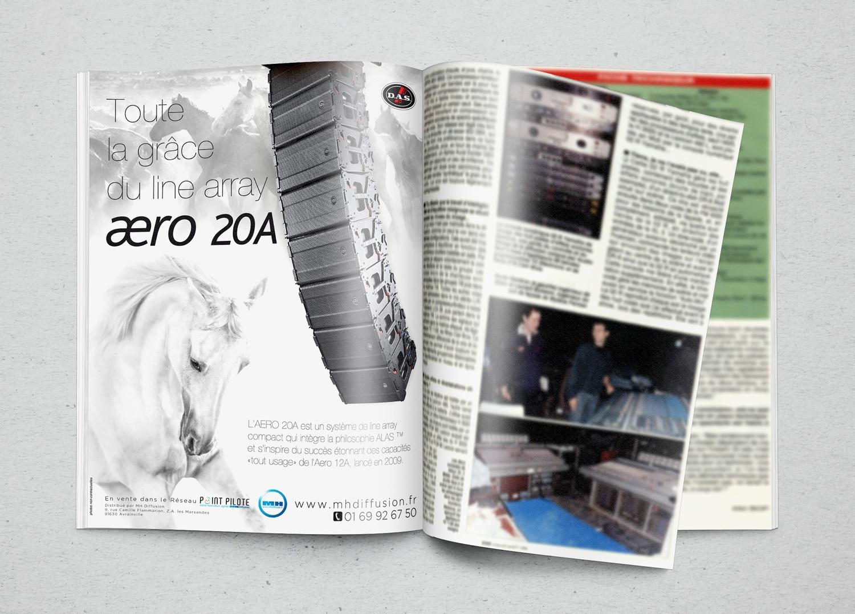 Publicité print pour l'AERO20A pour SonoMag