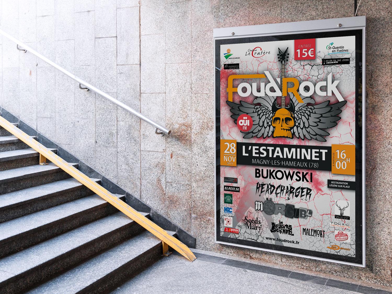 Création de l'Affiche pour l'association FOUDROCK