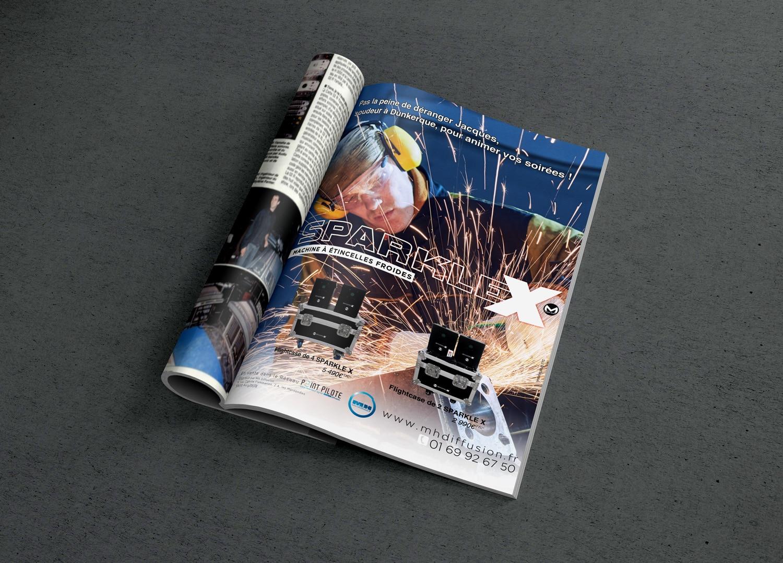 Publicité print de la SPARKLEX pour SonoMag