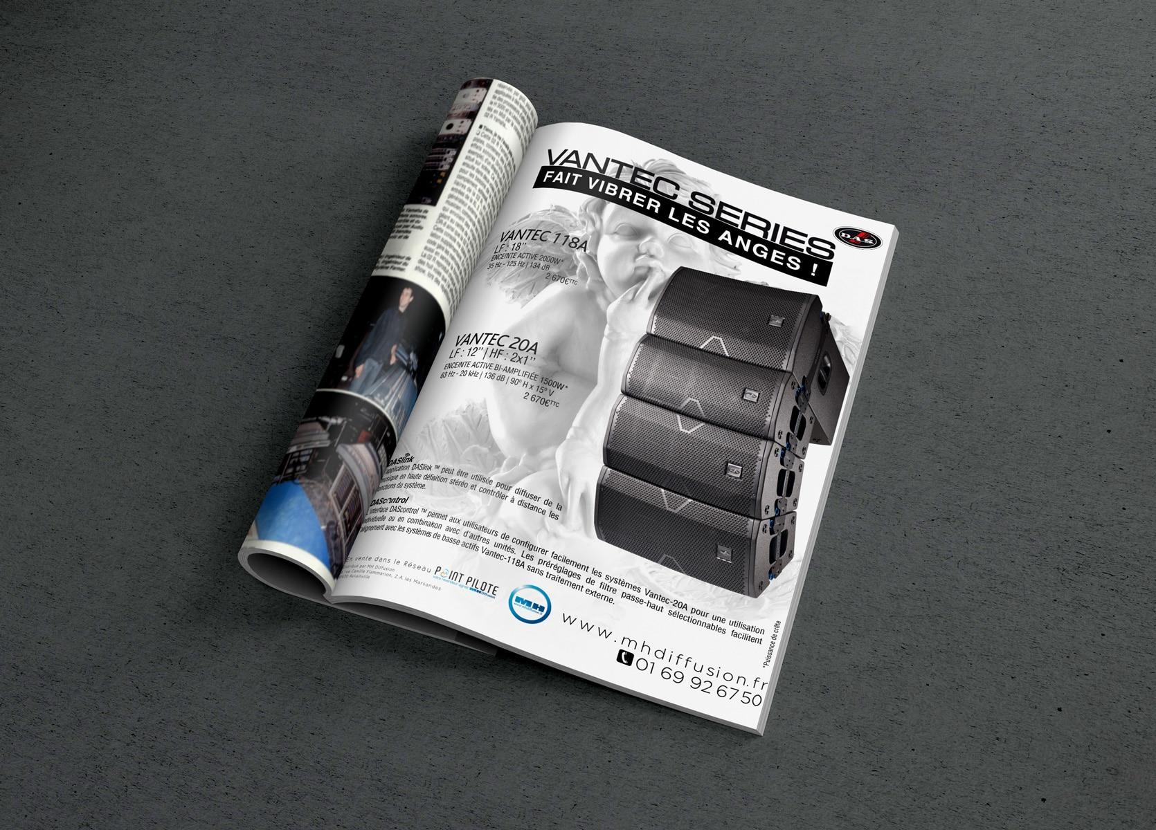Publicité print VANTEC pour SonoMag