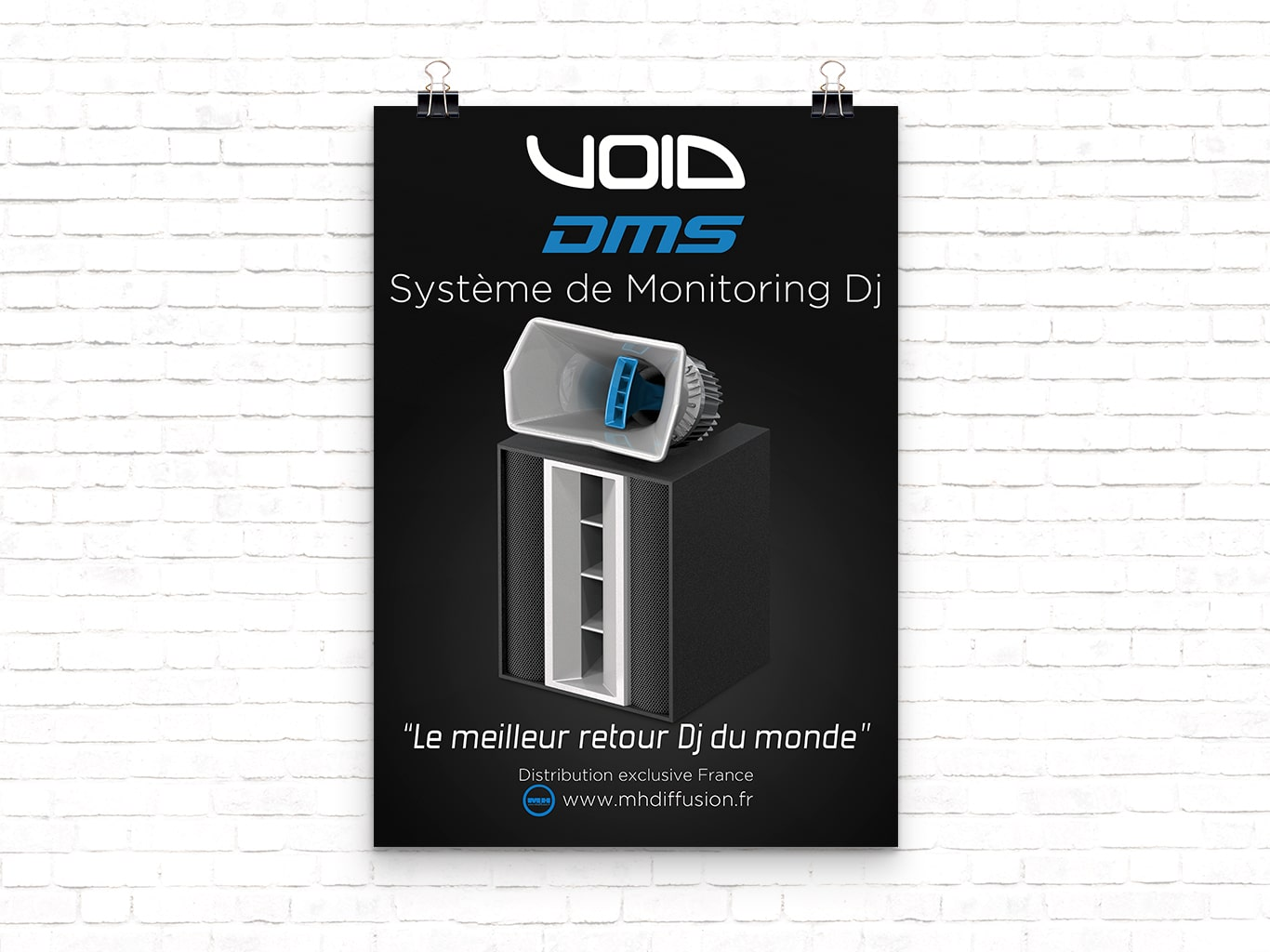 Support de communication au Format Affiche VOID Acoustics