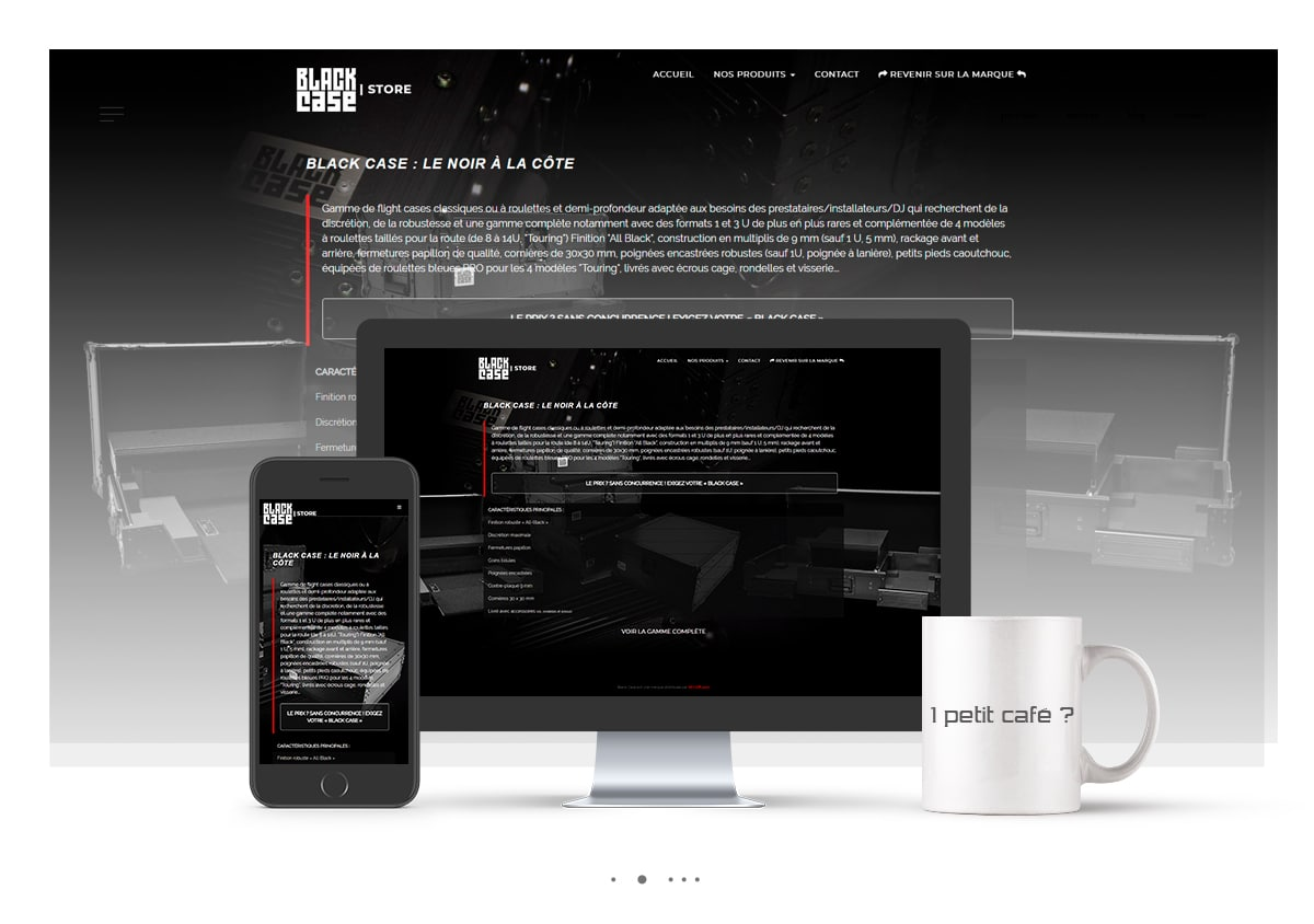 Conception du site e-commerce Black Case.fr