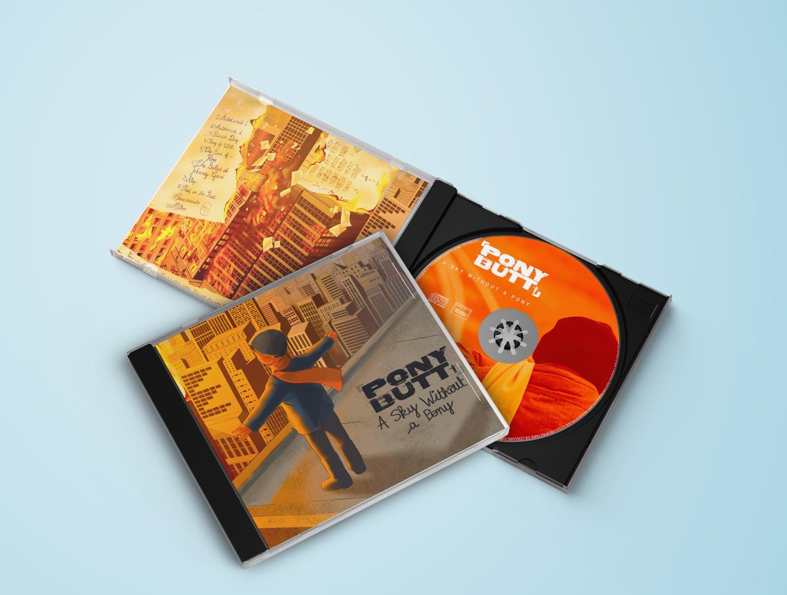 Mise en page et imposition pour le livret CD du groupe Pony Butt