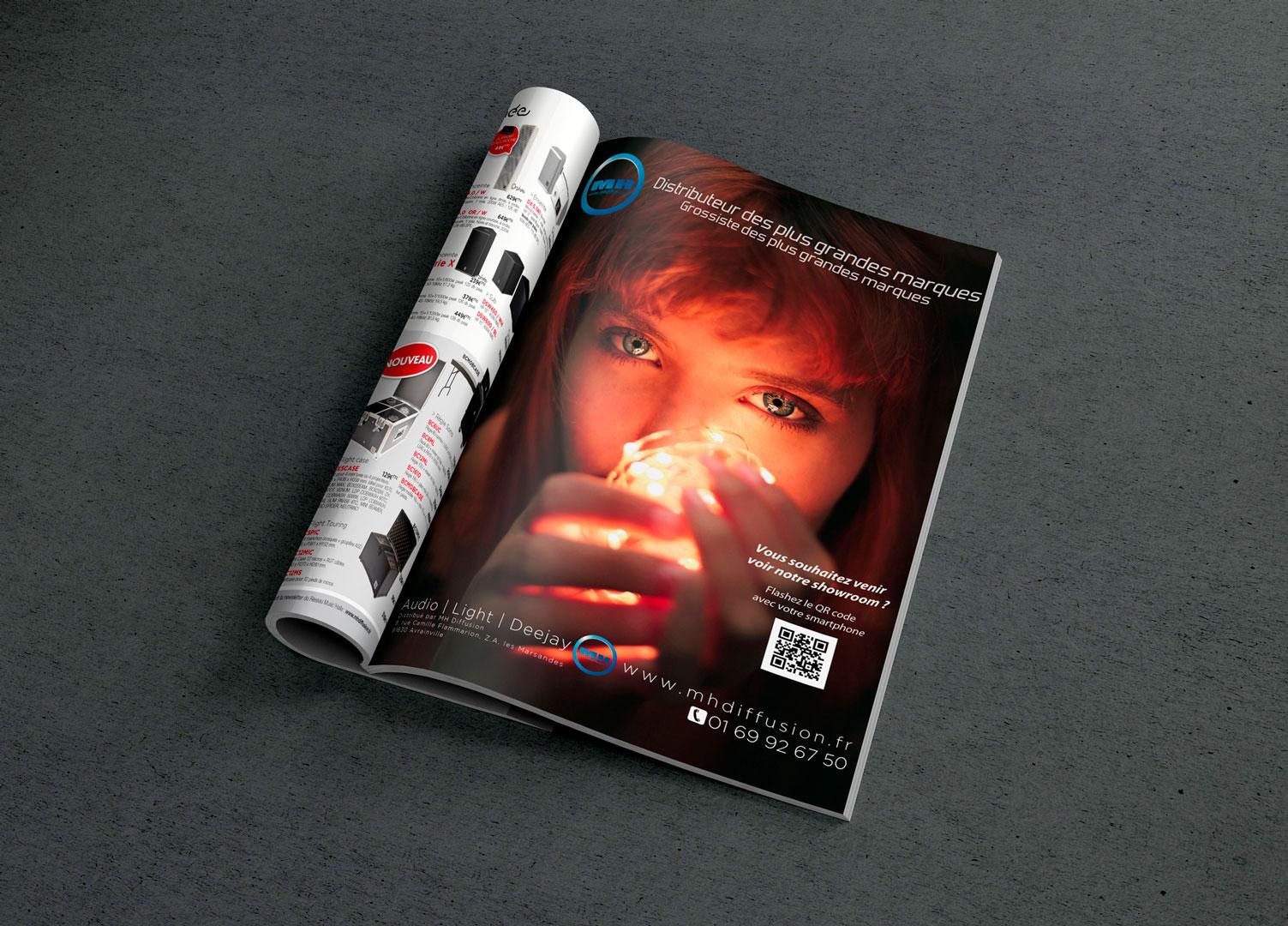 Publicité print MH Diffusion pour SonoMag
