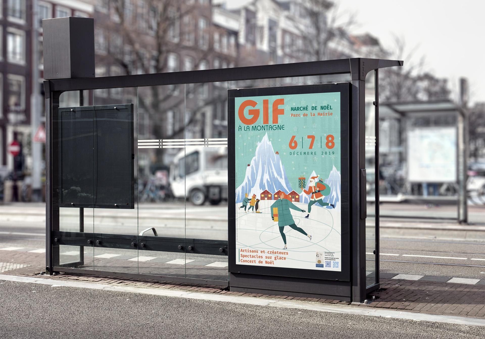 Affiche abribus (120×176) – Mairie de Gif sur Yvette