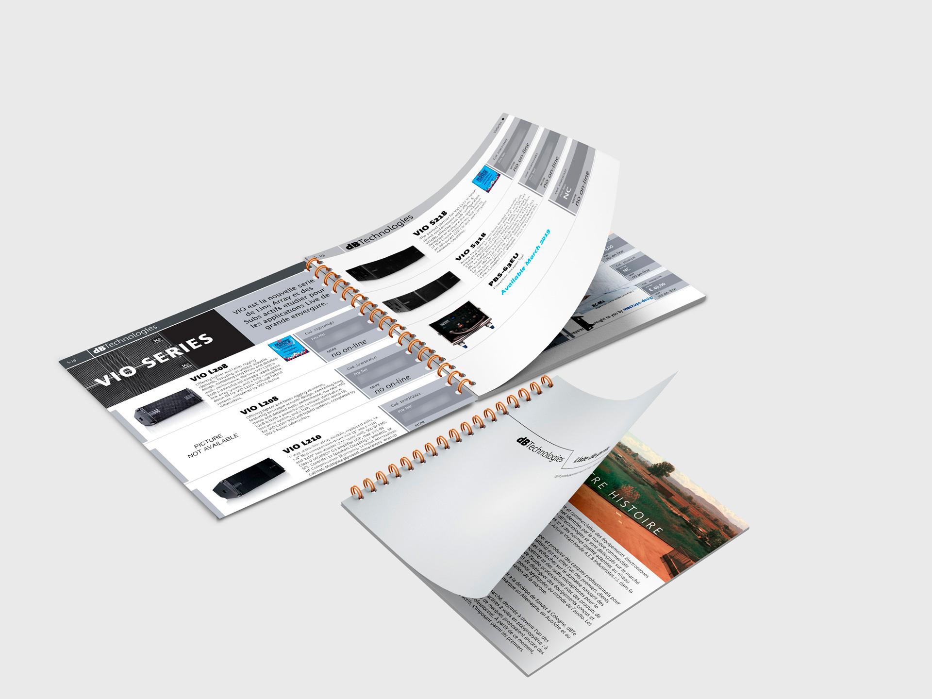 Création d'un catalogue Pricelist (72 pages)
