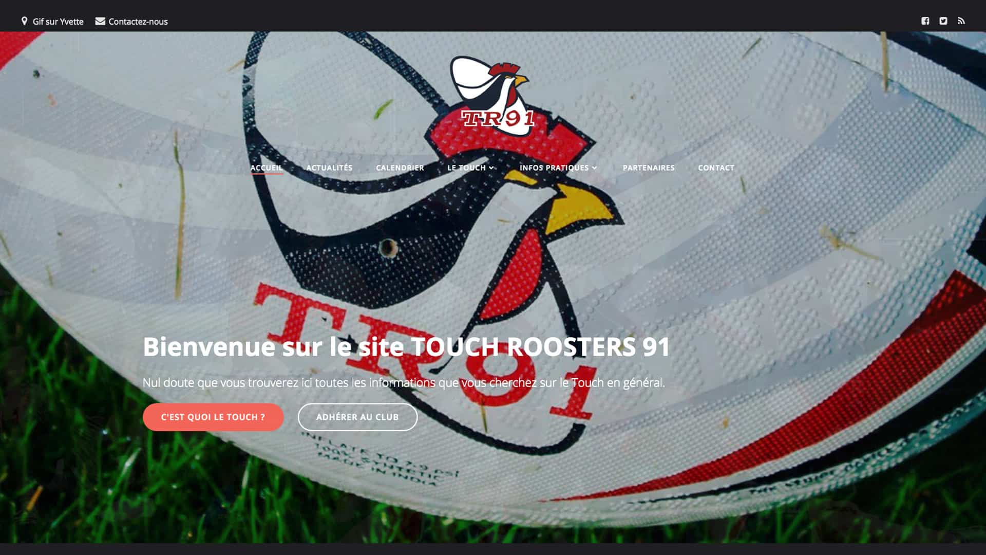 Conception du site Touch Rugby 91